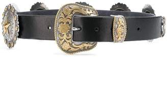 Jessie Western carved buckle belt