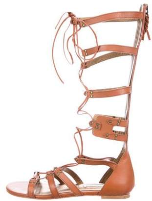 Cynthia Vincent Leather Gladiator Sandals