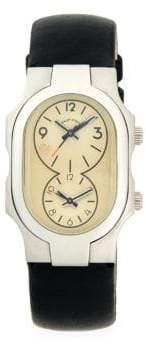 Philip Stein Teslar Signature Stainless Steel & Leather-Strap Watch
