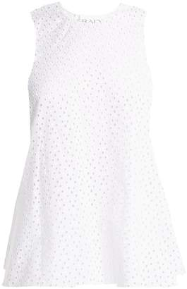 Raey Broderie-anglaise fishtail top