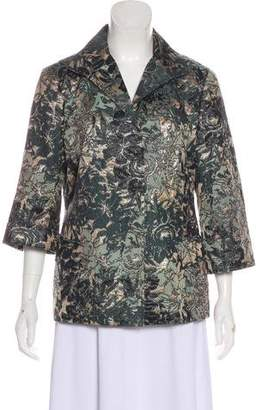 Lafayette 148 Patterned Button-Up Blazer