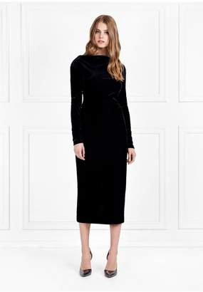 Rachel Zoe Hudson Corded Velveteen Midi Dress