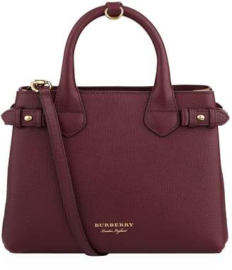 Burberry Small Banner House Check Detail Bag