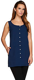Linea by Louis Dell'Olio Sleeveless ButtonFront Top