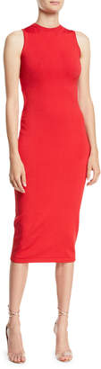 Cushnie et Ochs Sleeveless Body-Con Midi Dress w/ Cutout Back