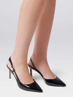 Forever New Charlotte Slingback Court Shoe - Black Patent - 36