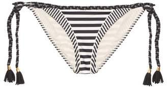Paolita - Mayflower Tie Side Bikini Briefs - Womens - Black White