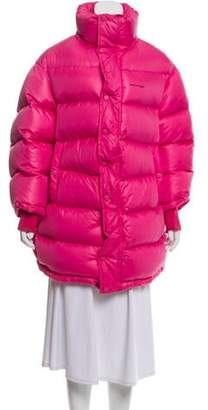 Balenciaga 2017 Outerspace Puffer Coat Pink 2017 Outerspace Puffer Coat