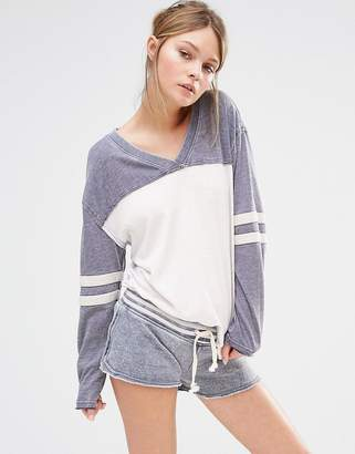 Ocean Drive Stripe Sleeve Tee $35 thestylecure.com