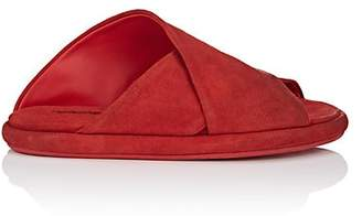 Marsèll Women's Crisscross-Strap Suede Slide Sandals - Red