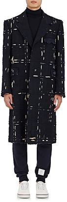 Thom Browne THOM BROWNE MEN'S DISTRESSED CHESTERFIELD COAT $4,840 thestylecure.com