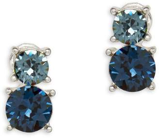 Anne Klein Swarovski Crystal Silvertone Earrings