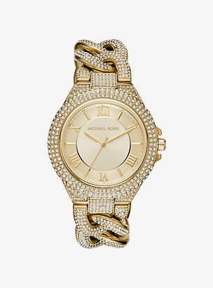 Michael Kors Camille Pave Gold-Tone Watch