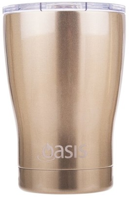 Oasis D.Line Insulated Coffee Cup with Lid Champagne