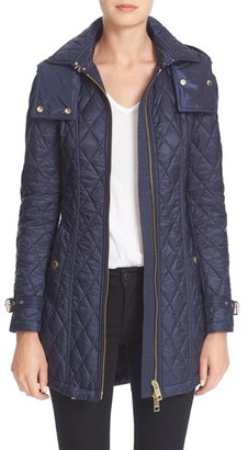 Women's Burberry Brit 'Bellbridge' Quilted Trench Parka $895 thestylecure.com