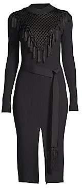 Yigal Azrouël Azrouël Women's Macrame Knit Dress