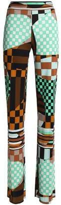 Emilio Pucci Printed Stretch-Jersey Straight-Leg Pants