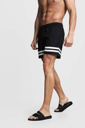 boohoo Contrast Stripe Swim Shorts