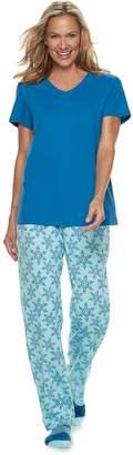 Croft & Barrow Petite 3-piece Tee, Pants & Socks Pajama Set
