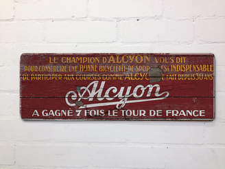 Daughters Of The Revolution Vintage Style Red Alcyon Tour De France Cycling Sign