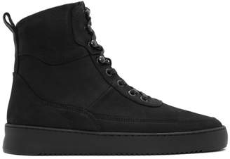 Filling Pieces Black Andes Evora High-Top Sneakers