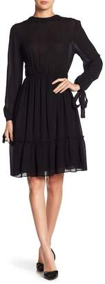 Moon River Long Tie Sleeve Dress