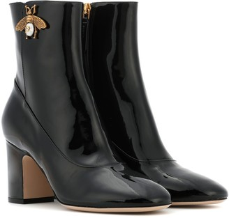 Gucci Patent leather ankle boots