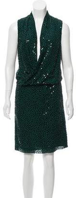 Diane von Furstenberg Silk Sequin Dress