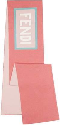 Fendi branded straight scarf