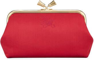 Anya Hindmarch Maud Tassel Satin Clutch Bag, Dark Pink