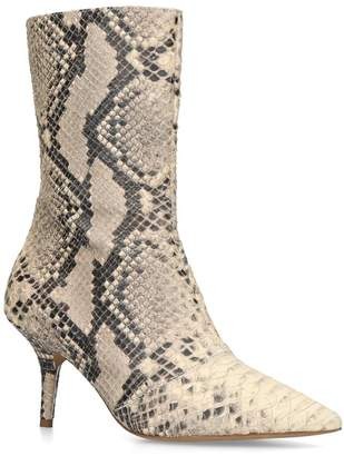 Yeezy By Kanye West Snake Print Ankle Boots 70