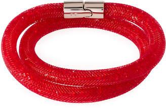 Swarovski Stardust Convertible Crystal Mesh Bracelet/Choker, Bright Red, Medium