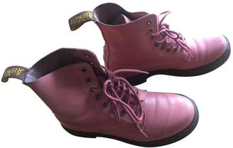 Dr. Martens Pink Leather Boots