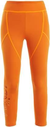 Fendi Logo-print cropped performance leggings