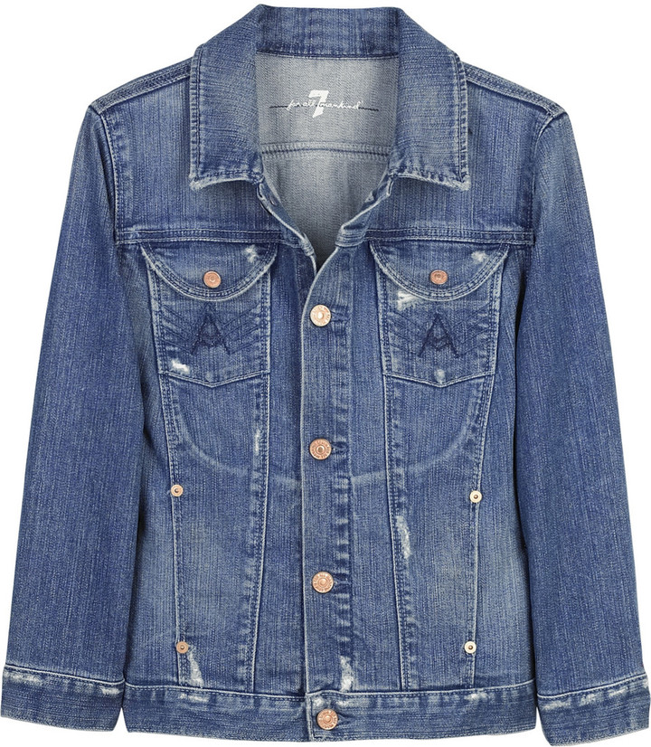 7 for all mankind Mars denim jacket