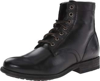Frye Women's Tyler Lace Up-SVL Combat Boot, Black