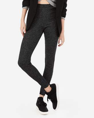 Express One Eleven High Waisted Ribbed Brushed Leggings