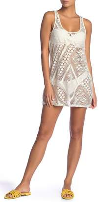Ella Moss Crochet Cover-Up Tunic