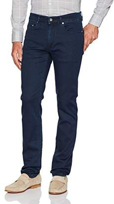 Bugatchi Men's Cotton Blend European Fit Five Pocket Jeans