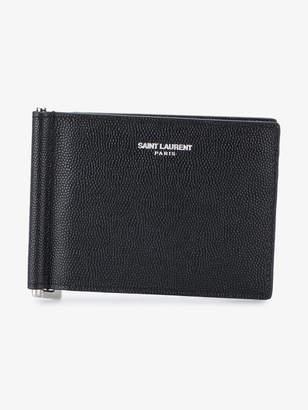 Saint Laurent money clip wallet