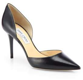 Jimmy Choo Addison 80 Leather d'Orsay Pumps
