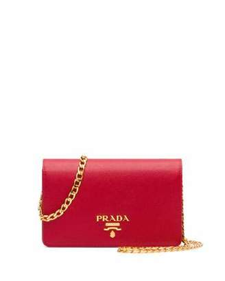 Prada Saffiano Lux Crossbody Bag, Red (Fuoco) $1,270 thestylecure.com