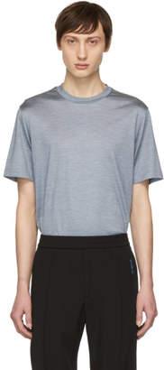 Brioni Blue Silk T-Shirt
