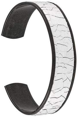 Diesel crackle effect cuff bracelet