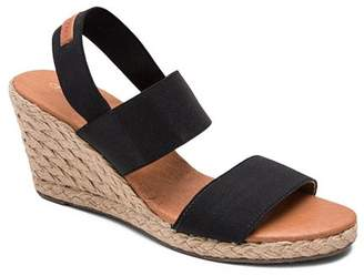37e1d941f5a Andre Assous Women s Allison Stretch Strap Mid Wedge Espadrille Sandals