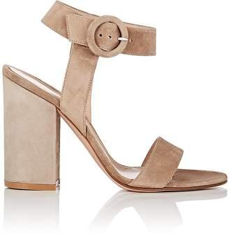 Gianvito Rossi Women's Block-Heel Suede Sandals