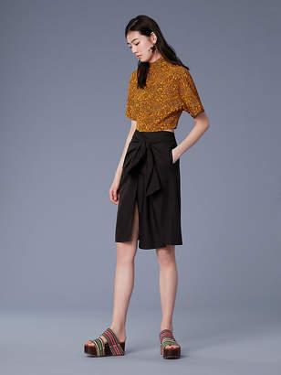 Diane von Furstenberg Waist Tie Front Slit Skirt