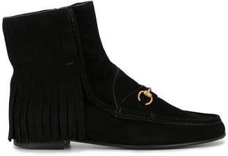Gucci Pre-Owned fringed penny loafer-inspired boots