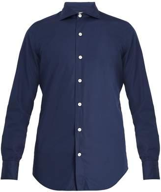 Finamore Seattle spread-collar cotton-poplin shirt