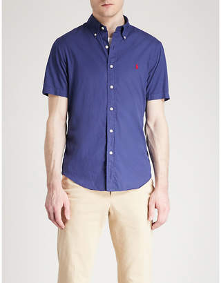 Polo Ralph Lauren Logo-embroidered slim-fit cotton-twill shirt